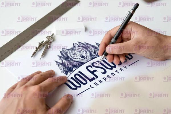 Логотип волк