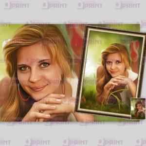 Портрет по фотографии на холсте