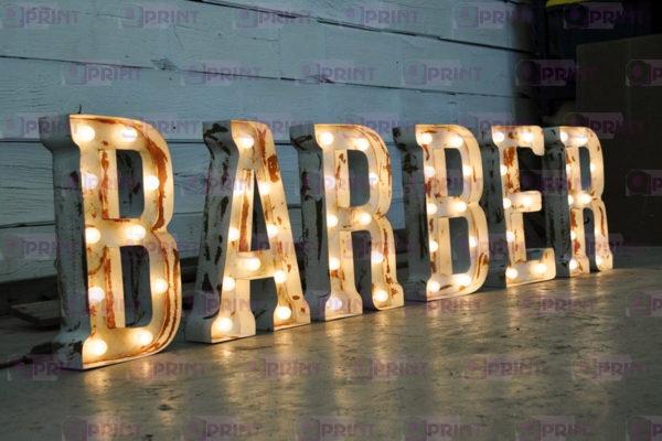 Световые буквы барбер